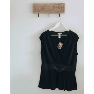 🍁NWT Miss Tina Black Blouse🍁